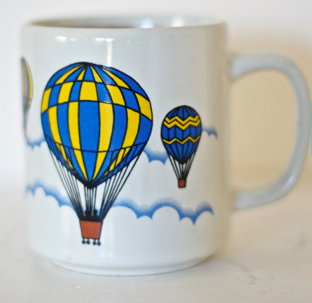 Vintage Hot Air Balloon Mug
