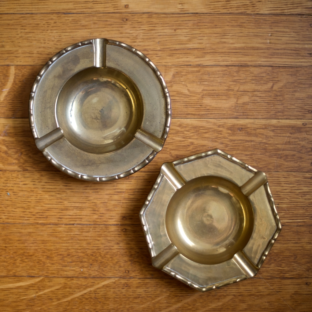 Vintage Brass Ash Trays Buena Buena Vintage