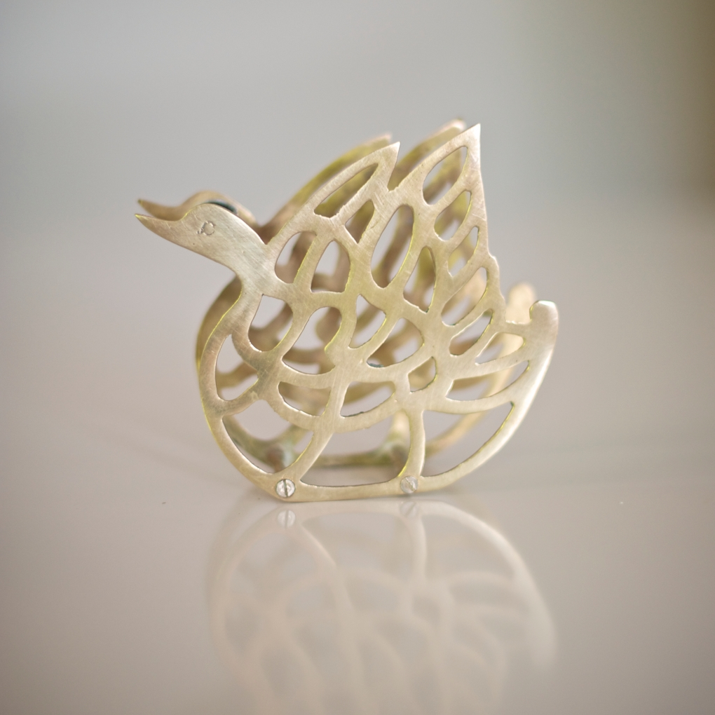 Brass Swan Napkin Holder