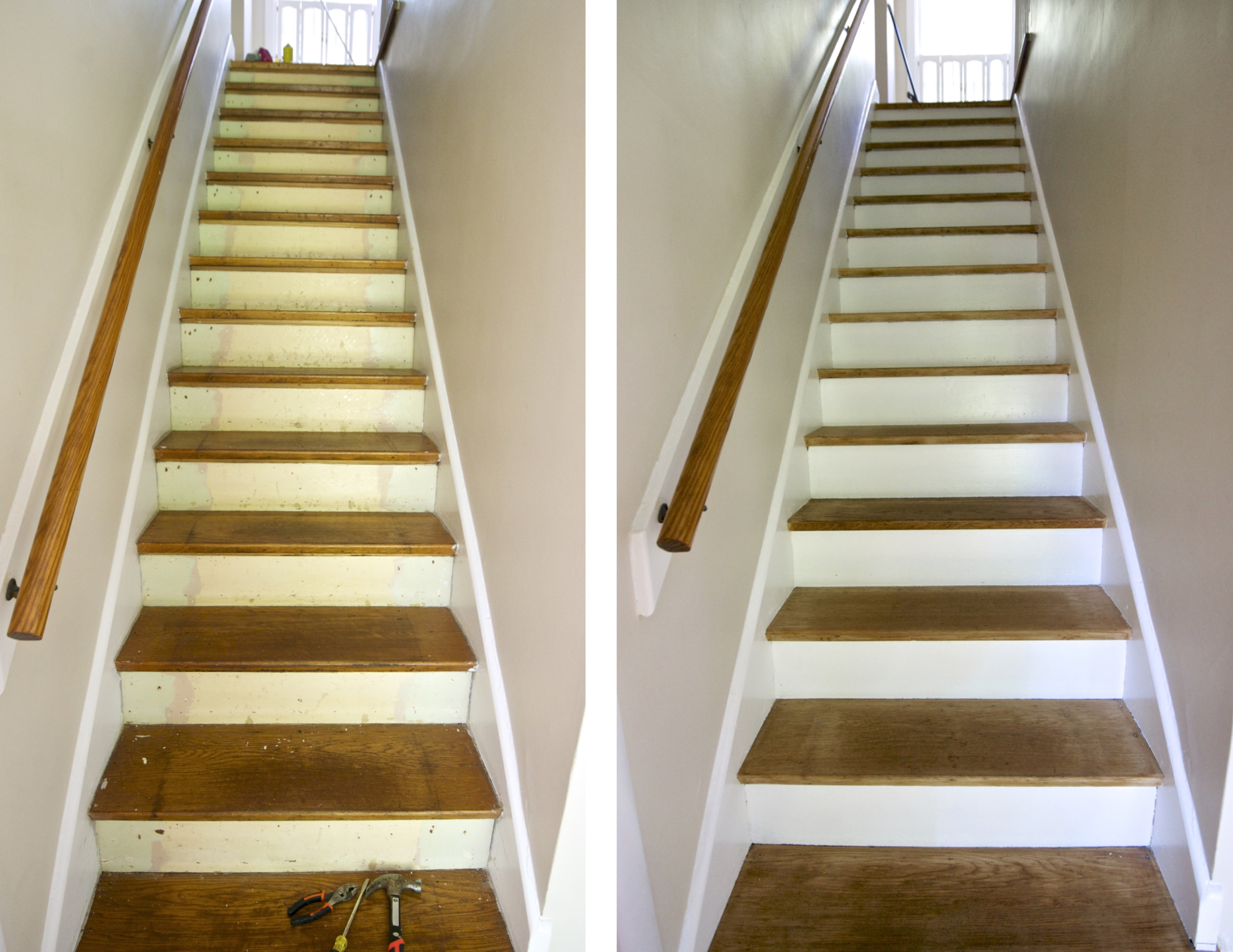 We Figured The Wood Stairs Would Be In Worse Shape Than Any Of The Bedroom  Floors Because They Endure The Most Traffic, But We Werenu0027t Prepared For  The ...