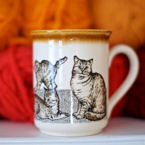 Vintage Cat Lady Mug
