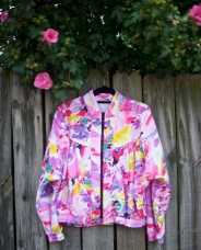 1980s Pink Floral Bomber