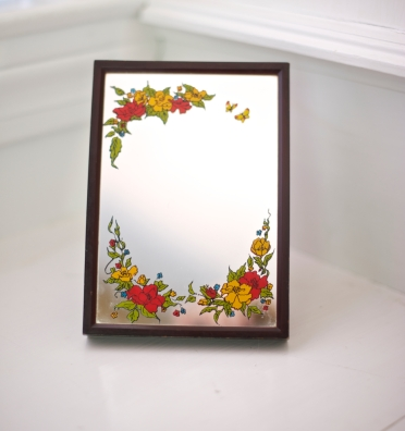 Vintage Mirror Music Box