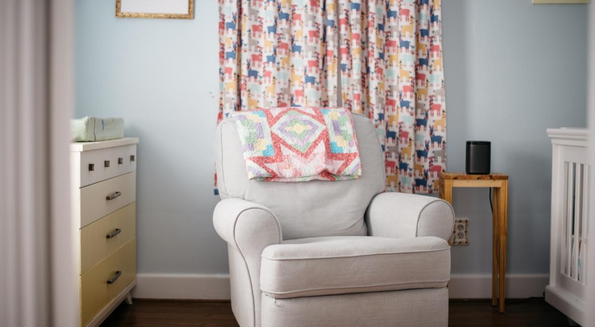 colorful girl's nursery llama curtains