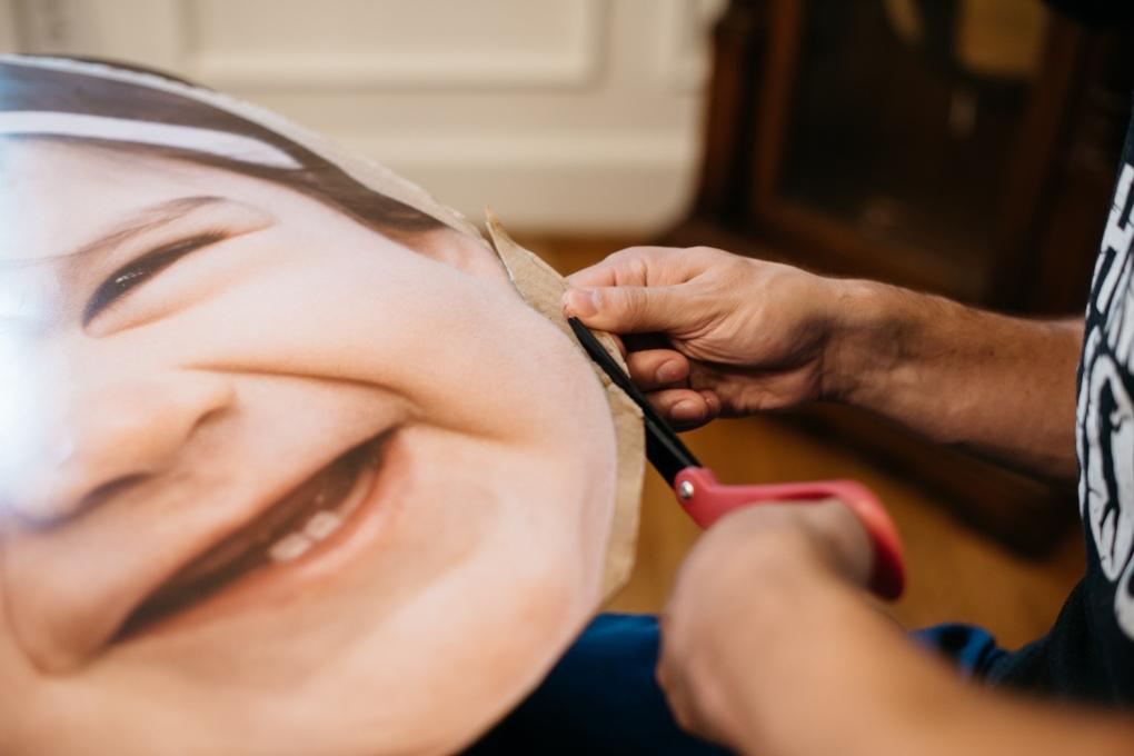 DIY Big Head Poster / Fathead Poster