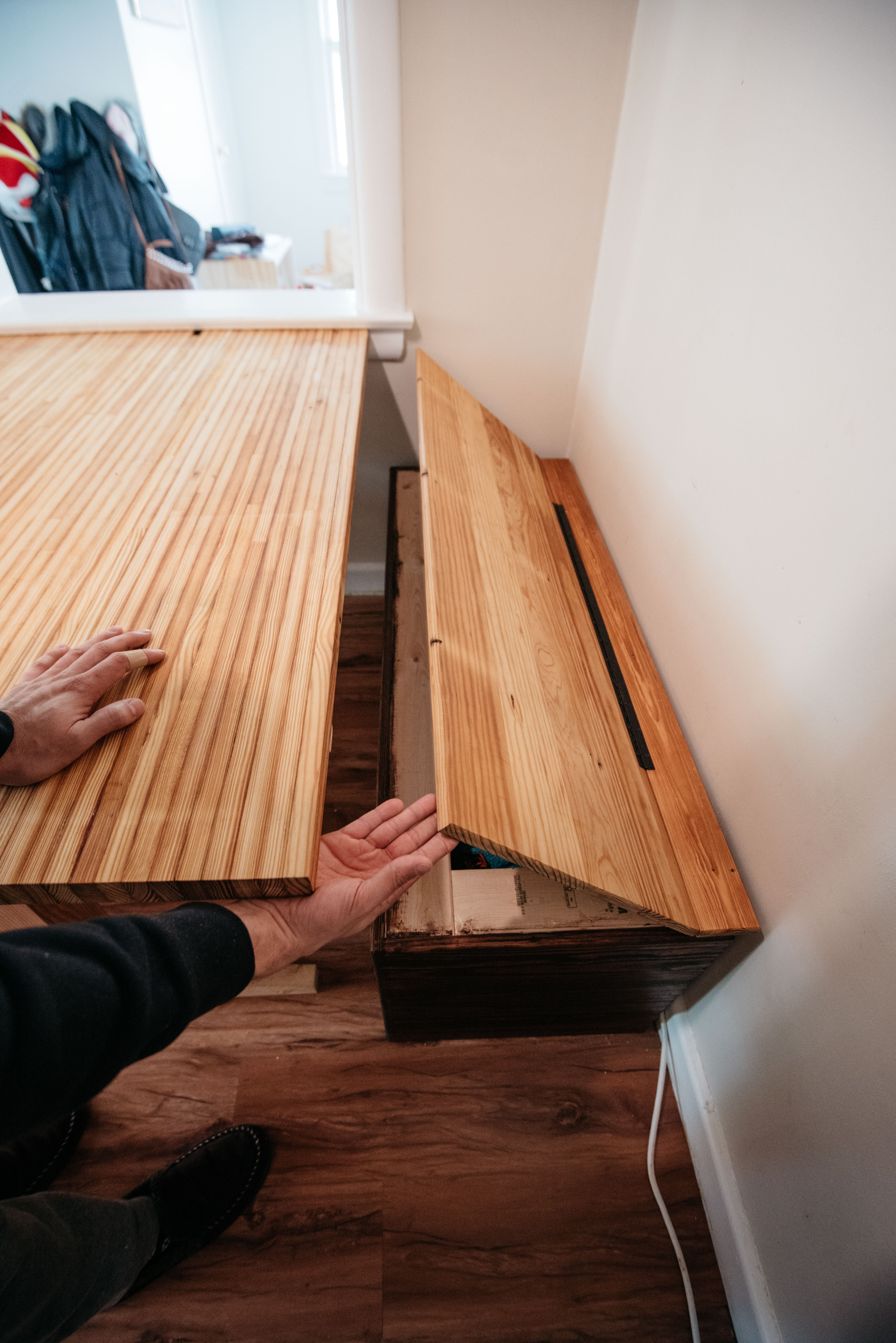 Diy Reclaimed Lumber Kitchen Nook Part 1 Bench With Storage Los Rodriguez Life